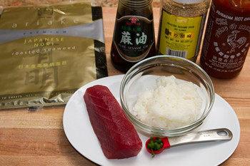 Суши с тунцом - фото шаг 1