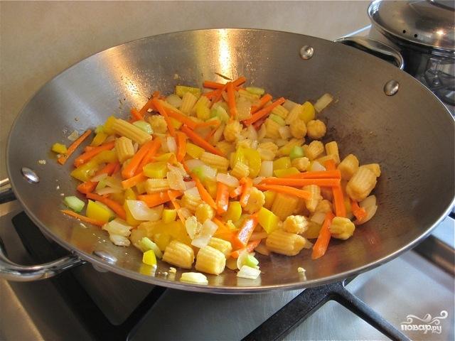 Лапша с овощами по-китайски - фото шаг 4