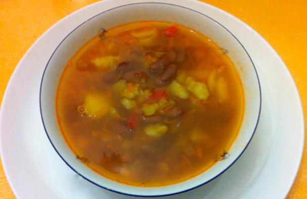 Фасолевый суп на мясном бульоне - фото шаг 9