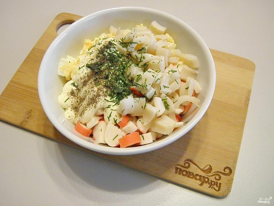 Морской каприз салат рецепт