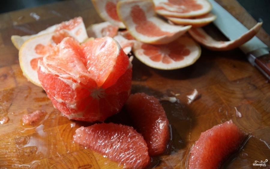 Салат с креветками и грейпфрутом  Салаты из морепродуктов