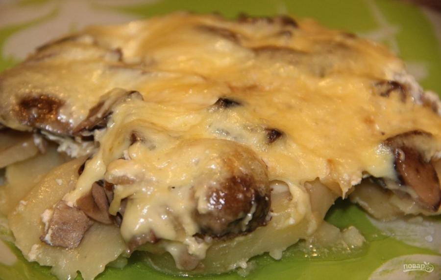 Картофельная запеканка с грибами и сыром - фото шаг 5