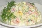 Салат крабовый с сыром