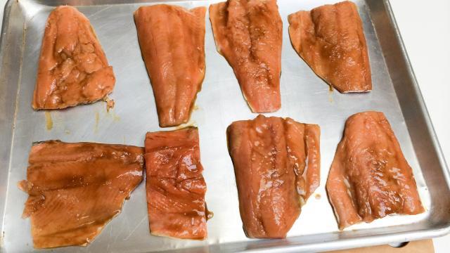 Филе лосося в глазури - фото шаг 5