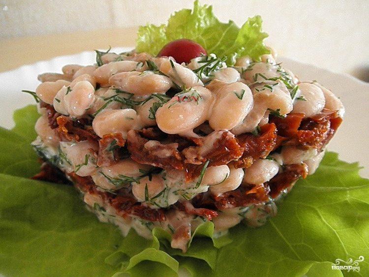 Рецепт Cалат с вялеными помидорами