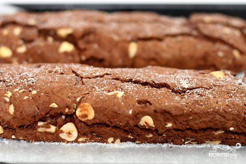 Шоколадные бискотти с миндалем - фото шаг 4