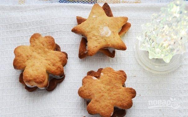 Рождественское печенье из творожного теста