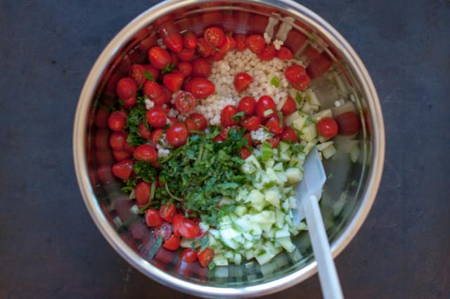 Салат из кускуса с овощами - фото шаг 6