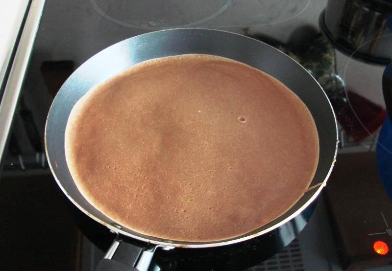 Блинчики с какао - фото шаг 5