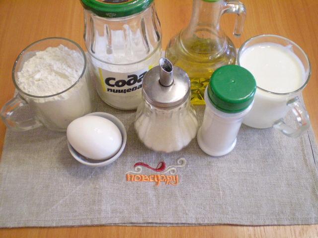 Рецепт Быстрое тесто для пирожков без дрожжей