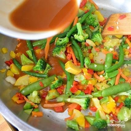 Кисло-сладкий овощной стир-фрай - фото шаг 5