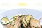 Салат с курицей и цуккини