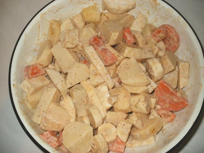 Курица с картошкой и овощами - фото шаг 6