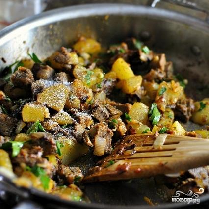 картошка с мясом грибами и помидорами в духовке рецепт с фото