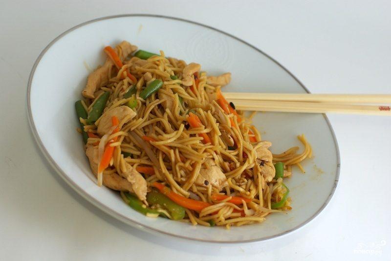 Лапша по тайски с морепродуктами рецепт