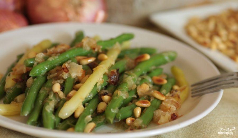 Рецепт Зеленая фасоль с лесными орехами