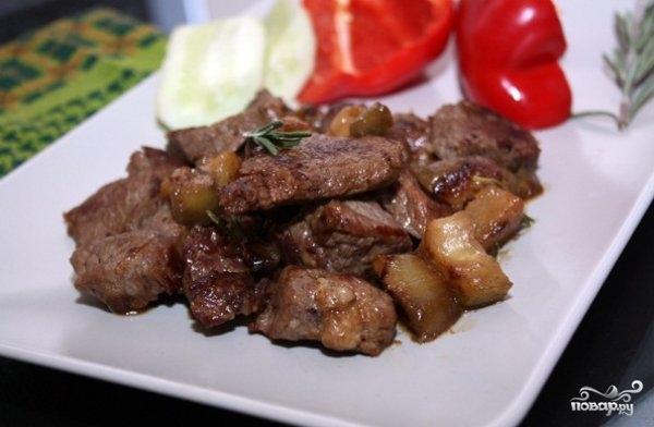 Рецепт Баклажаны тушеные с мясом