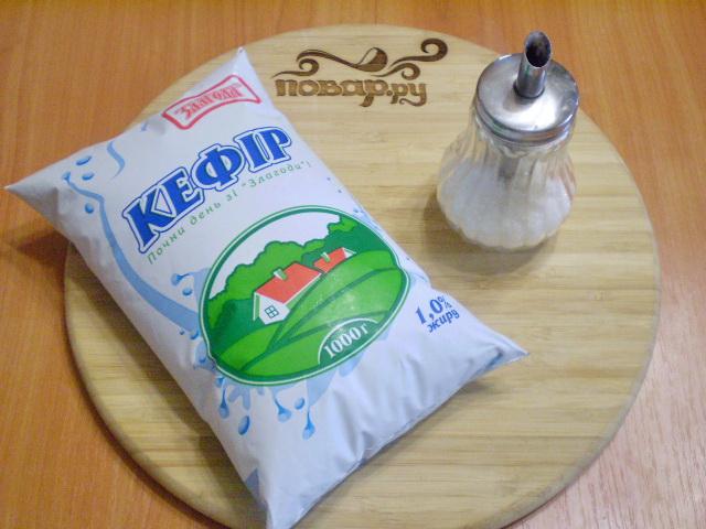 Рецепт Кефир с сахаром