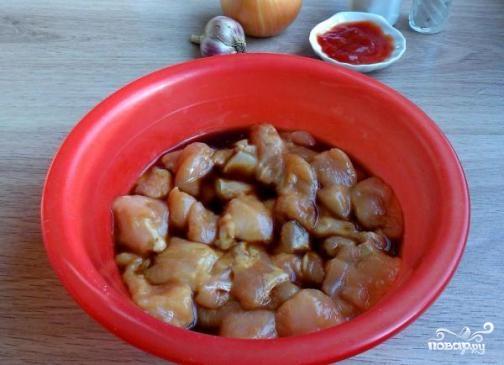 Куриная грудка в кисло-сладком соусе - фото шаг 3