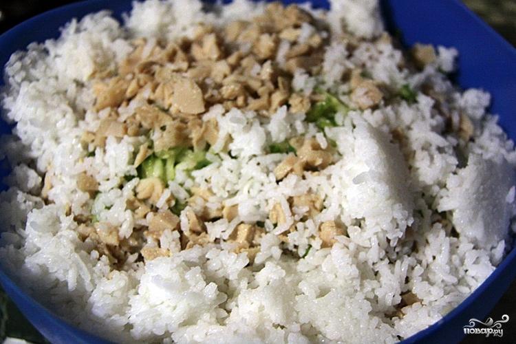 Салат с кальмарами и капустой - фото шаг 4