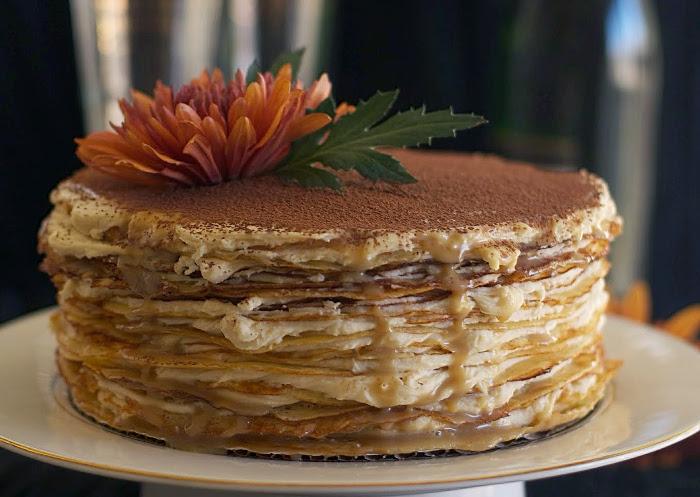 Блинный торт с маскарпоне - фото шаг 4