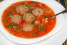 Суп с нутом и фрикадельками