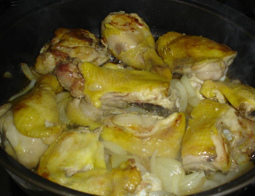 Рецепт Жаркое с курицей и грибами