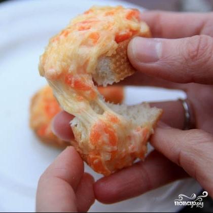 Гренки с сыром и морковью
