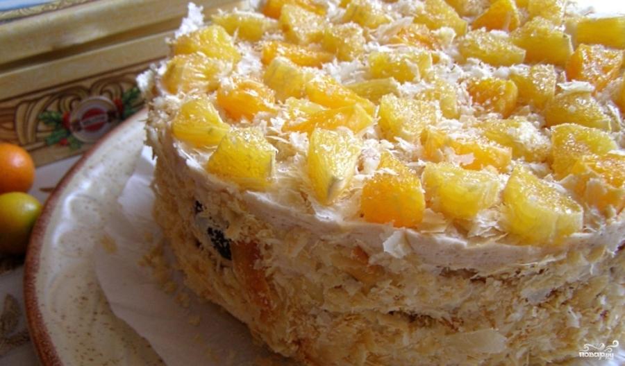 Торт слоеный рецепт с фото пошагово