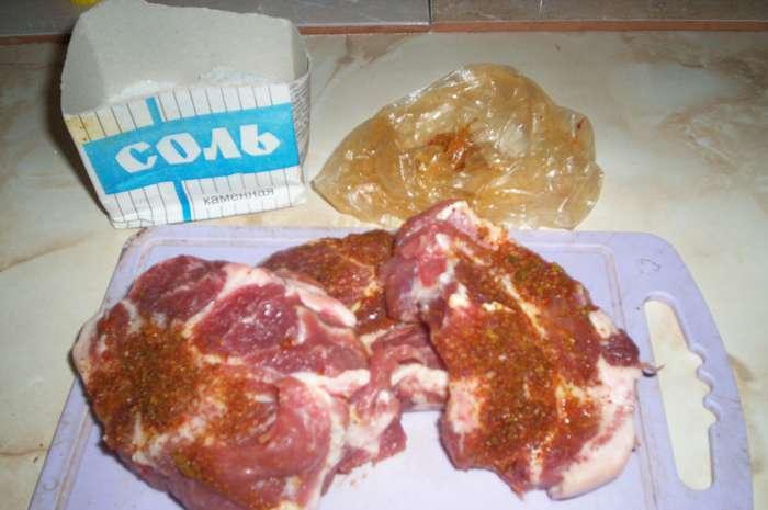 Стейк из свиной шейки - фото шаг 2