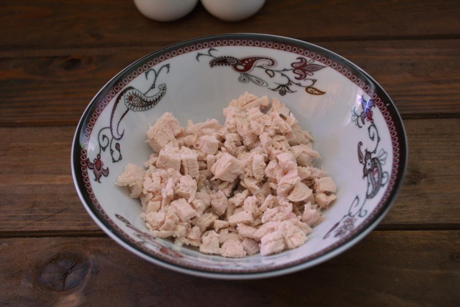 """Рецепт Салат """"Орхидея"""" с курицей"""