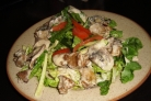 Салат из куриной печени с горчицей