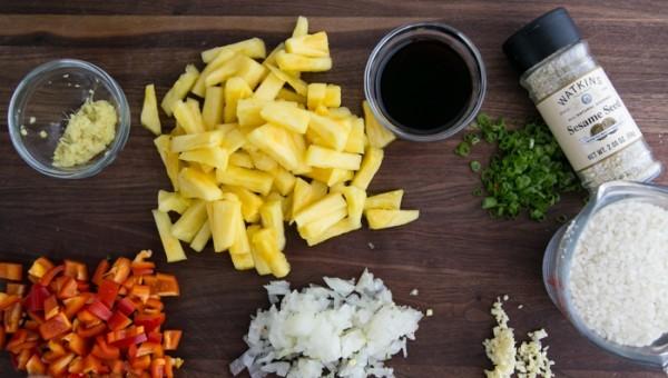 Рецепт Рис с ананасом и овощами