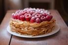 Блинный пирог со сгущенкой