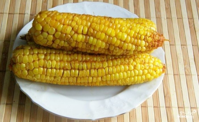 Запеченная кукуруза со специями