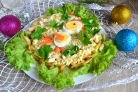 Салат Петушок с картошкой фри
