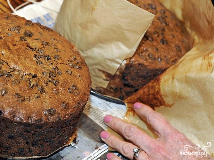 Английский рождественский пирог с коньяком - фото шаг 7
