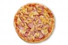 Пицца с ананасами и ветчиной