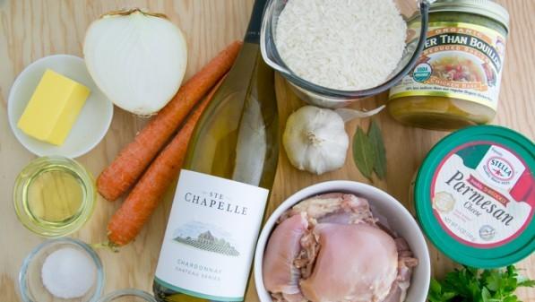 Рецепт Курица с рисом и морковью