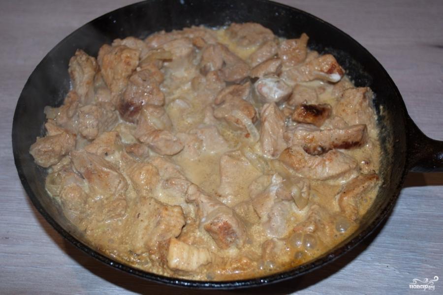 Курица под сырным соусом  - фото шаг 4