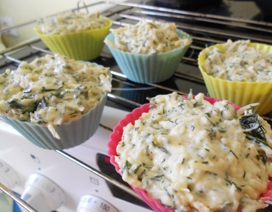 Маффины с зеленью и сыром - фото шаг 4