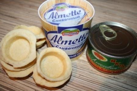 Рецепт Тарталетки с сыром и икрой