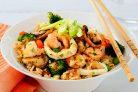 Жареный рис с морепродуктами