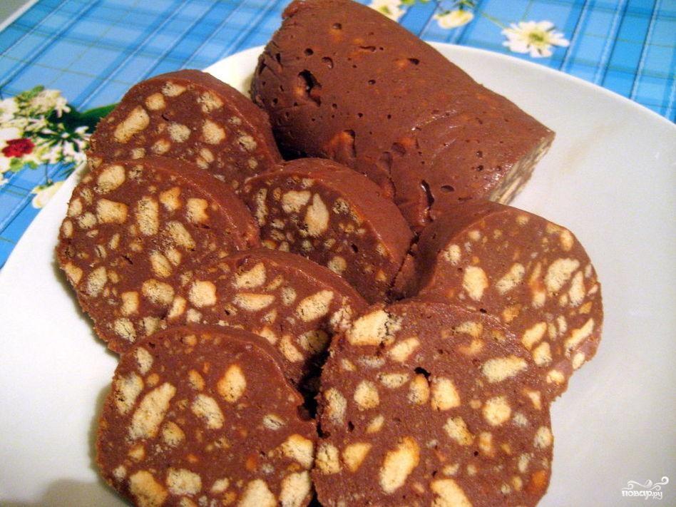 Рецепт Сладкая колбаска из печенья