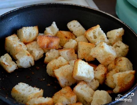 Суп сырный с гренками - фото шаг 4