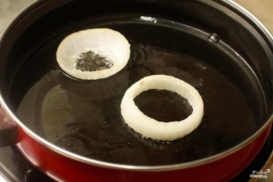 Яйца в луковых кольцах - фото шаг 4
