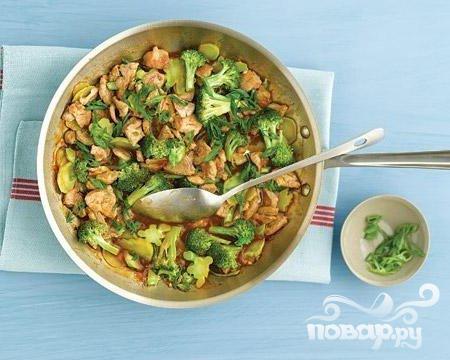 Рецепт Жареная свинина с брокколи