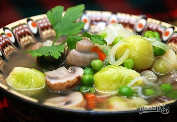 Овощной суп без картошки - фото шаг 5