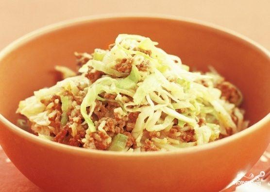Рецепт Капуста с рисом и фаршем
