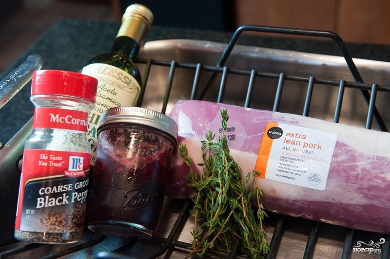 Рецепт Свинина в вишневом соусе